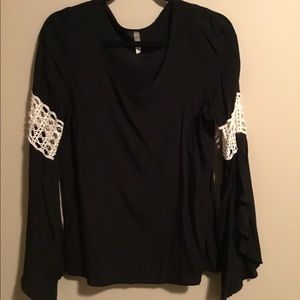 Black Top with bell sleeves